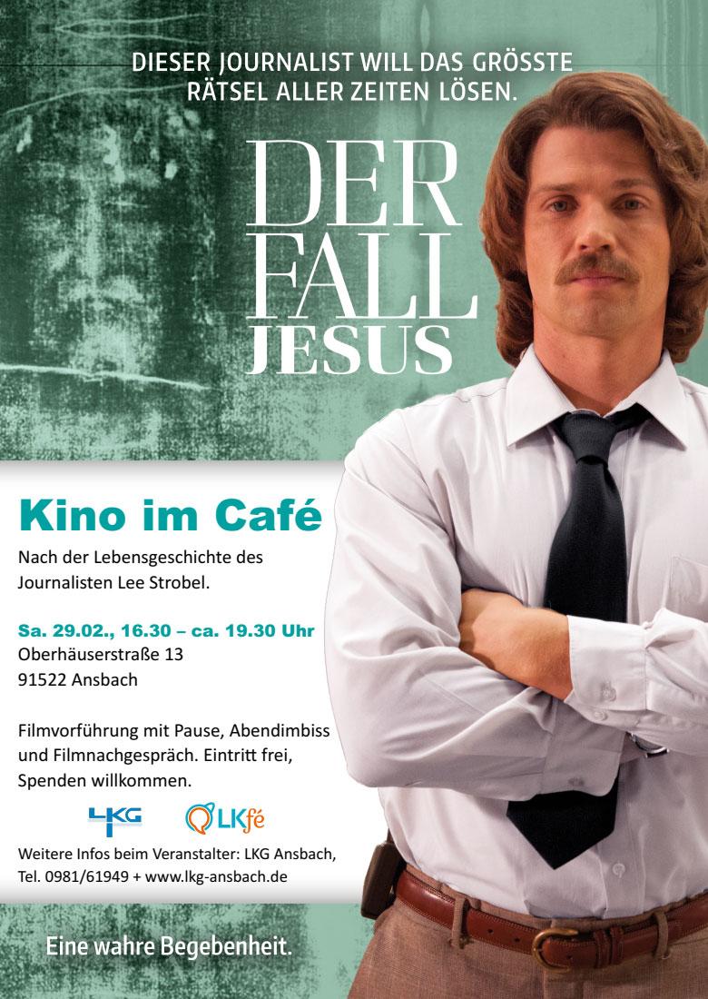 Flyer Der Fall Jesus - Kino im Café